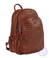 Рюкзак с шипами небольшого формата - рыжий - 7319