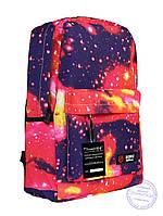 Универсальный рюкзак с космическим рисунком - красный - 8148, фото 1