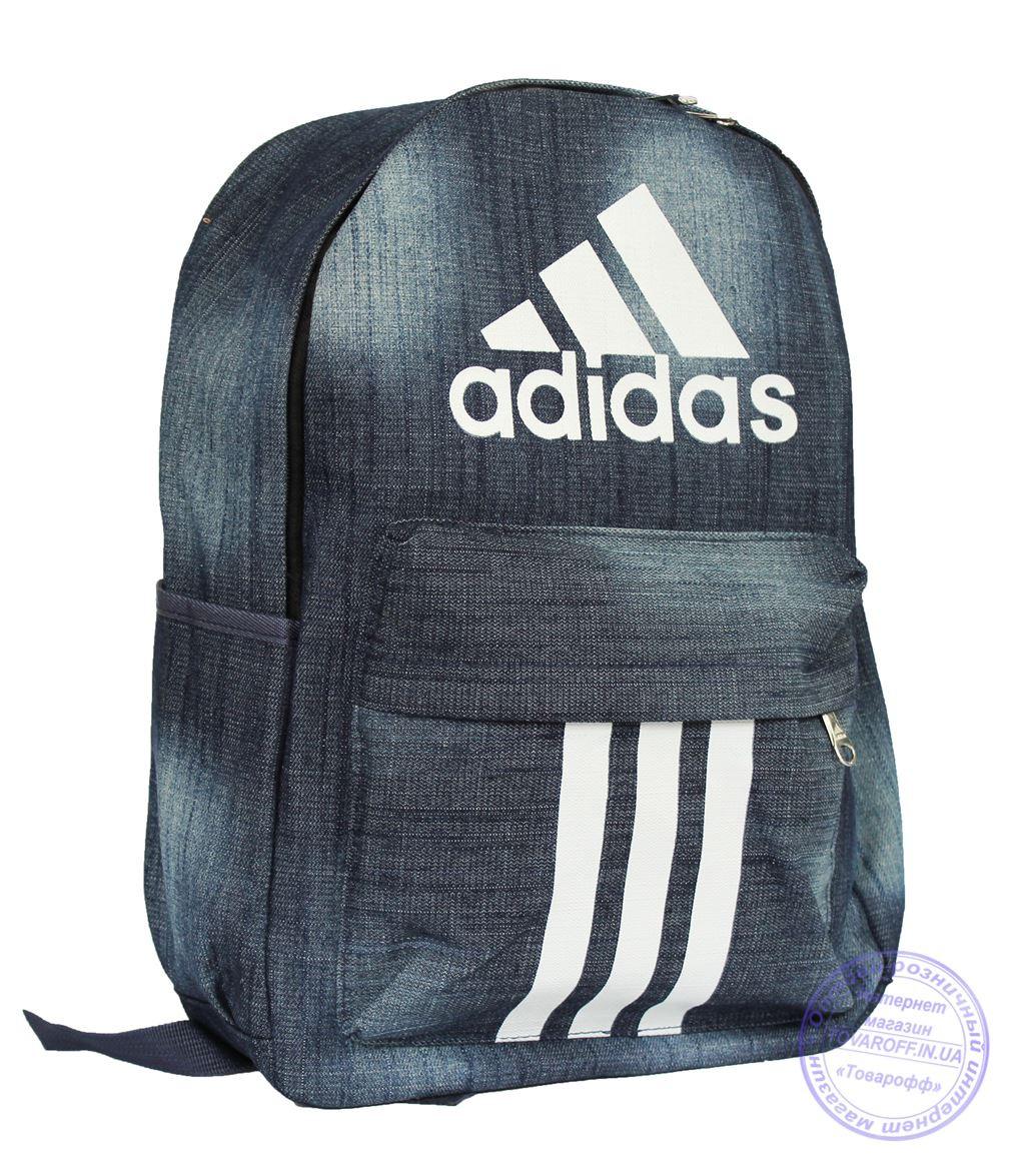 Джинсовый рюкзак Адидас (Adidas) - 8419