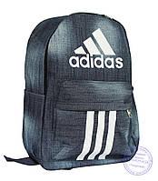 Джинсовый рюкзак Адидас (Adidas) - 8419, фото 1