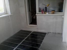 Теплый пол в квартире на лоджии площадью 8 м2 под линолеум 1