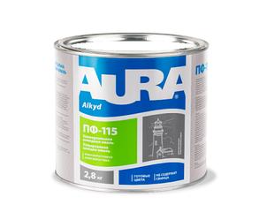 Эмаль алкидная AURA ПФ-115 универсальная белая матовая 2,8кг