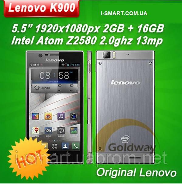 Lenovo K900 Intel Atom Z2580 Duel core phone 5 .5'' Corning 2 Gorilla 1920x1080px 2G RAM+16GROM Android 4.2