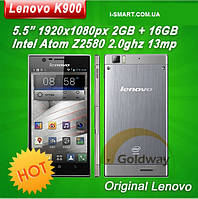 Lenovo K900 Intel Atom Z2580 Duel core phone 5 .5'' Corning 2 Gorilla 1920x1080px 2G RAM+16GROM Android 4.2, фото 1