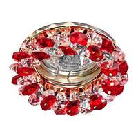Светильник точечный FERON CD4141 MR16 красный/золото 50W