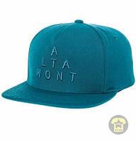 Летняя кепка ( бейсболка , снепбек ) Altamont The Alpha Snapback in Aqua ( голубой )