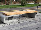Лавка садово-парковая без спинки URBAN 1, фото 2
