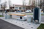 Лавка садово-парковая без спинки URBAN 1, фото 4