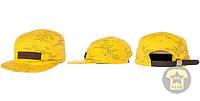 Летняя кепка ( бейсболка , снепбек ) Altamont The Wavy Camp Hat in Yellow ( желтый )