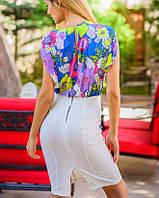 Платье с белой юбкой | Цветочная нежность sk желтый