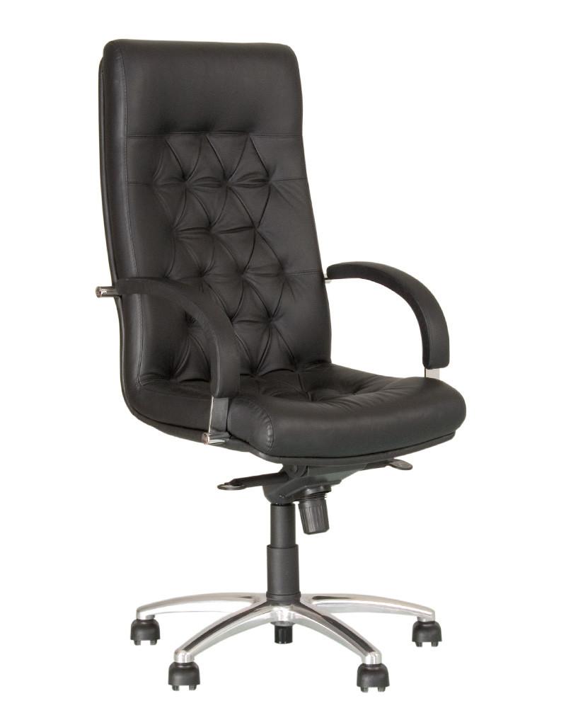 Крісло офісне Fidel steel механізм Мультиблок хрестовина AL 68, шкіра люкс LE-A (Новий Стиль ТМ)