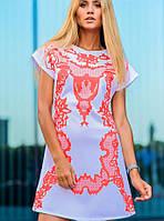 Белое платье с принтом | April  sk