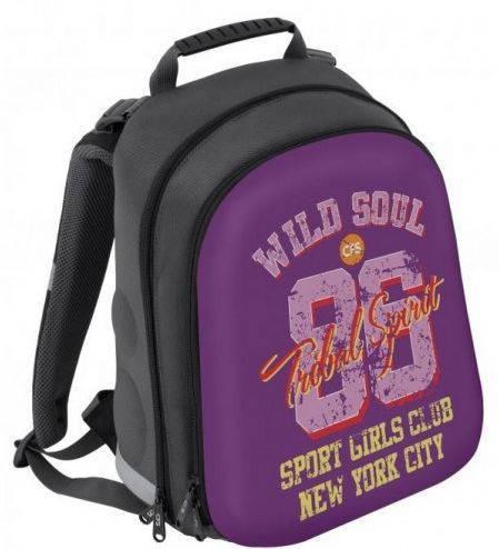 """Каркасный школьный рюкзак для девочки, фиолетовый 20 л. CFS EVA фасад 15"""", """"Wild Soul"""" 730 CF85459"""
