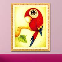 "Картина для рисования камнями Diamond painting для детей ""Попугай"", фото 1"