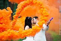 Оранжевый дым для фотосессии, Цветной дым Jorge, оранжевий дим