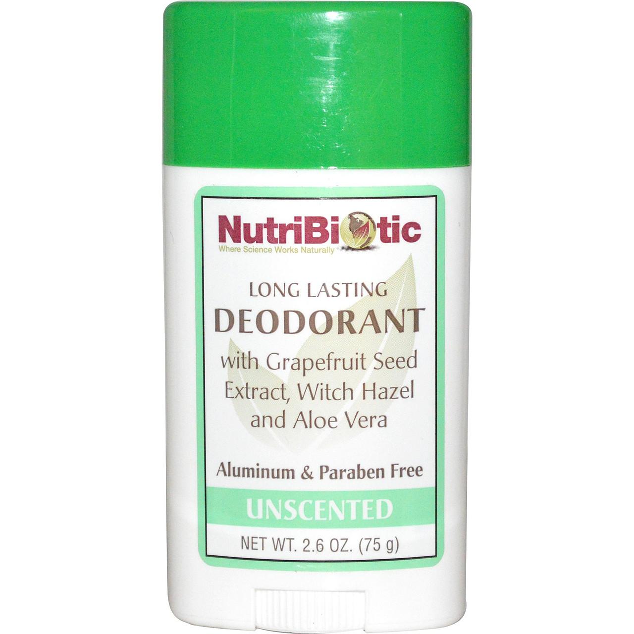 Натуральный дезодорант без запаха NutriBiotic, стик продолжительного действия. Сделано в США