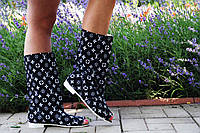 Модные полусапожки Луи Витон с открытым носком. Арт-0175