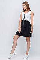 Платье в монохромной черно-белой расцветке №25