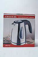 Дисковый чайник Crystal CR-1713 с LED подсветкой, кухонная техника, товары для кухни, электрочайник