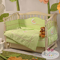 Набор в детскую кроватку Teddy салатовый (6 предметов), фото 1