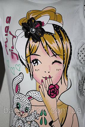Батник девочка с цветочком в волосах(от 5 до 8 лет) , фото 2
