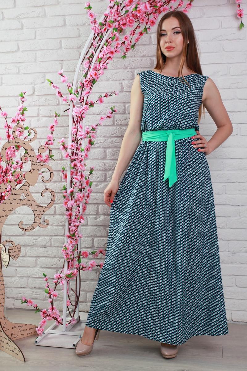 Длинное летнее штапельное красивое платье.