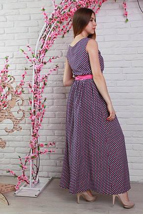 Длинное летнее штапельное красивое платье., фото 3