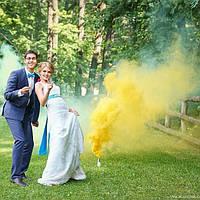 Желтый дым для фотосессии, Цветной дым Maxsem, кольоровий дим, жовтий дим (Средняя насыщенность)