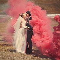Червоний дим для фотосесії, Кольоровий дим Maxsem, димова шашка, червоний дім (Середня насиченість)
