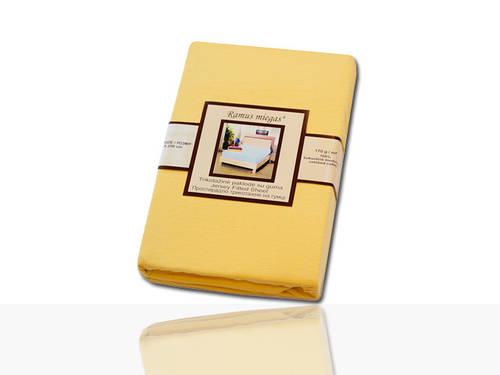 Простынь на резинке трикотажная (желтая) 140х200