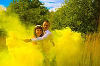 Желтый дым для фотосессии, Цветной дым Jorge, кольоровий дим, жовтий дим