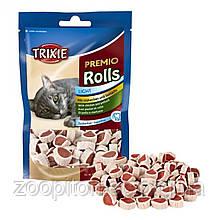 Ласощі для кішок Trixie Premio Rolls, курка/минтай, 50г