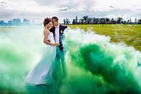 Зеленый дым для фотосессии, Цветной дым Jorge, зелений дим (Высокая насыщенность)