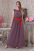 Длинное летнее штапельное красивое платье в горошек.