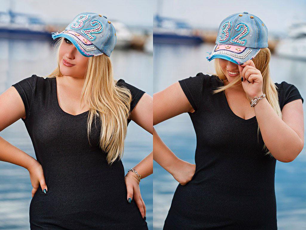 """Стильная женская джинсовая кепка """"32"""""""