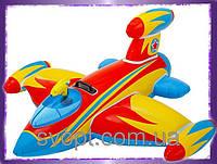 Надувной детский плотик «Самолет» (147х127 см) 57539 Intex