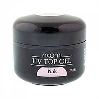 Завершающий топ Гель Naomi UV Top Gel Pink, 28гр