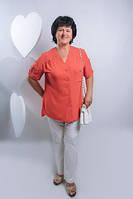 Красивая однотонная  женская блузка