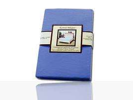 Простынь на резинке трикотажная (синяя) 160х200 см