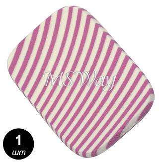 Luxury Спонж косметич. SP-09 (1шт) прямоугольный, полосатый, латекс, фото 2