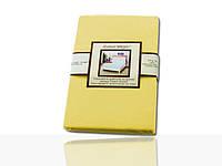 Простынь на резинке трикотажная (бледно-желтая) 160 ˣ 200