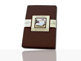 Простынь на резинке трикотажная (темно-коричневая) 180х200