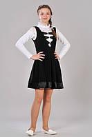 Стильный подростковый сарафан чёрного цвета
