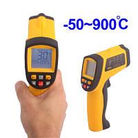 Пирометр инфракрасный с лазерным указателем Benetech GM900 (SRG 900) -50~900℃ ( 12:1 ) в Кейсе!