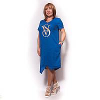 Однотонное платье из натурального льна