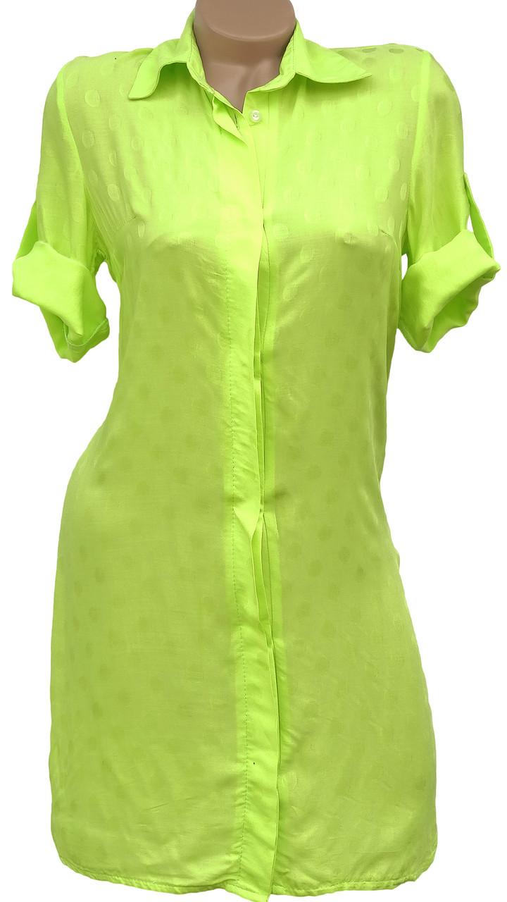 Яркая летняя рубашка-платье (в расцветках 40-44)