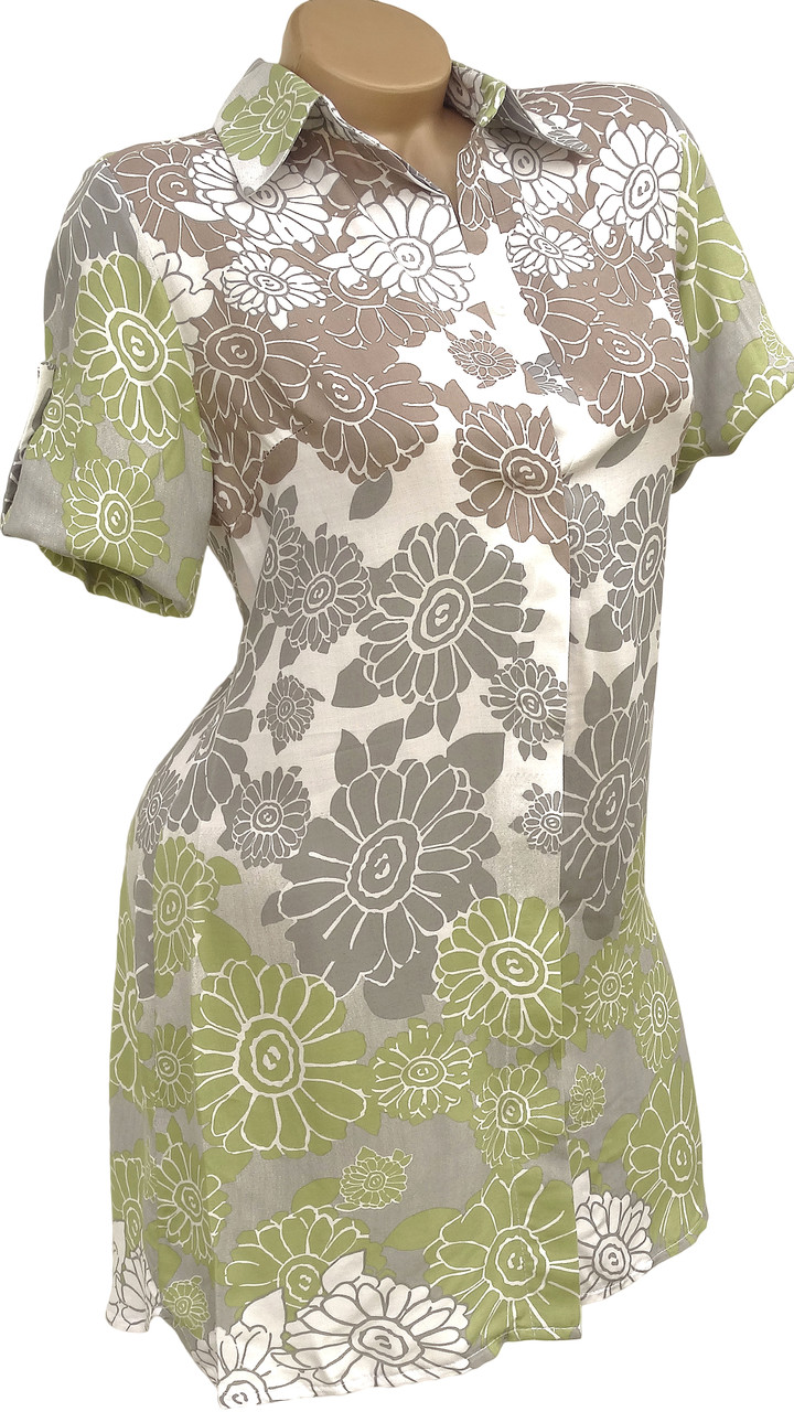 Оригинальная рубашка-платье (в расцветках 40-44)