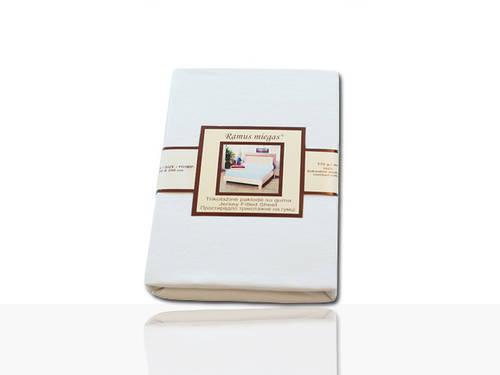 Простынь на резинке трикотажная (белая) 200х200