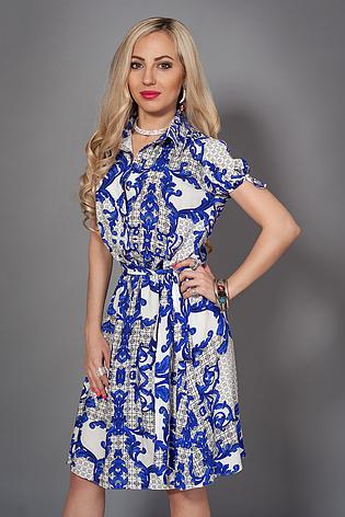 Красиве ніжне літній штапельне сукня-сорочка, р 44-50, фото 2