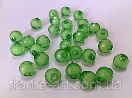 Бусины Акрил Двухцветные 8мм Зеленые
